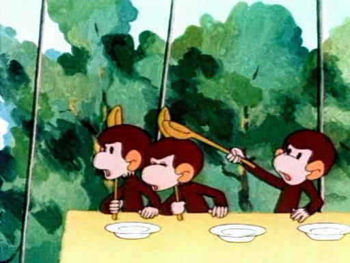 Обезьянки. Как обезьянки обедали