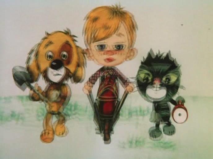 Дядя Фёдор, пёс и кот. 1. Матроскин и Шарик